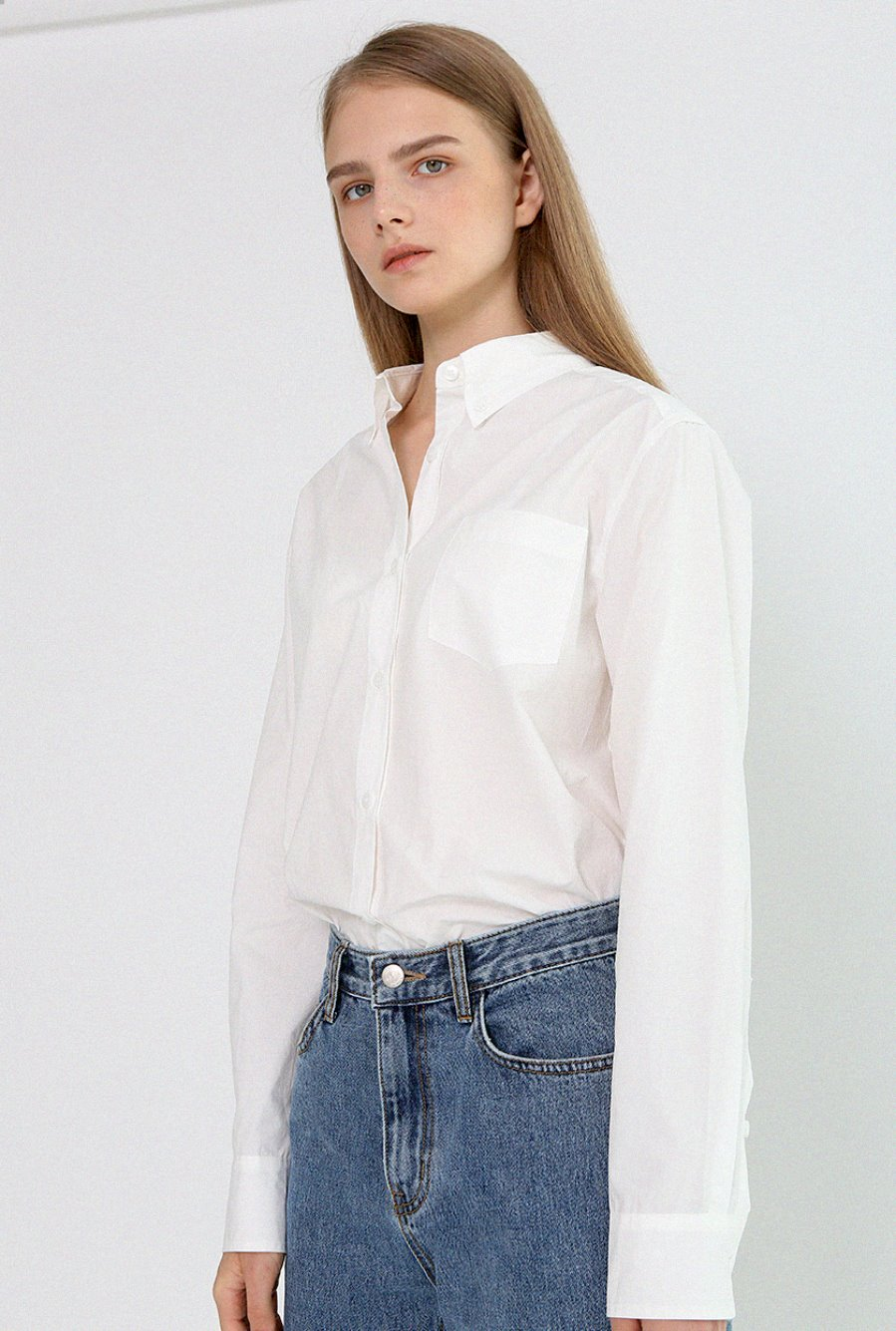 BASIC BUTTON SHIRTS-IVORYBRENDA BRENDEN